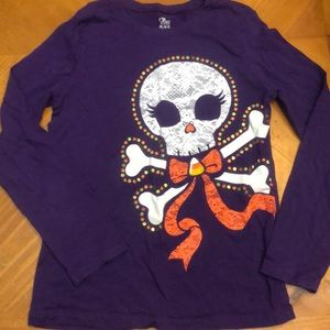 Children's Place Shirts & Tops - Children's Place Purple Halloween Skeleton Shirt